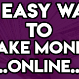 20 easy ways to make money online