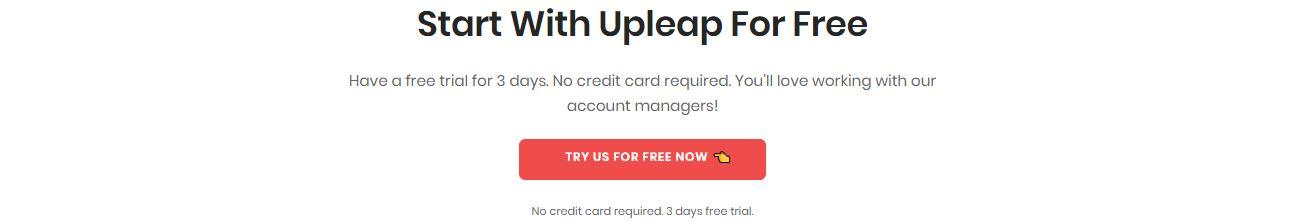 Upleap 3 days free trial
